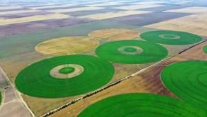 Konya'daki Tarım Arazilerinden Muhteşem Görüntüler