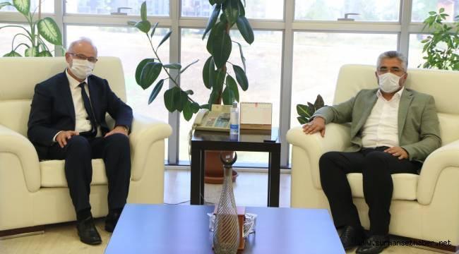 AK Parti İl Başkanı Ersan Aksu'dan Rektör Ünal'a ziyaret
