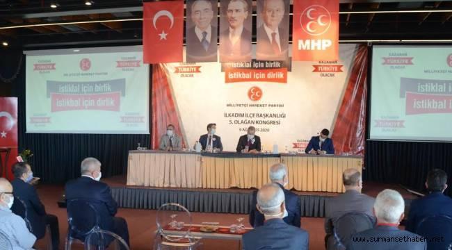 MHP'nin İlk 5. Olağan Kongresi Samsun'da gerçekleşti.
