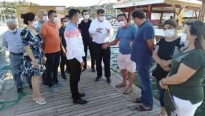 Milletvekili ARI, Demre Üçağız'da MUÇEV'e Kiralanan Bölgede Çalışan Esnafı Ziyaret Etti