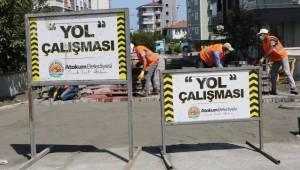 Atakum Belediyesi kentin sokaklarını 2 milyon adet kilitli taş parke ile kapladı