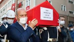 Bakan Soylu Samsun'da Şehidimizi Ebediyete Uğurladı