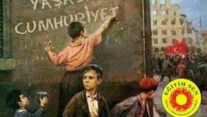 EĞİTİM SEN'DEN 29 EKİM MESAJI; 'CUMHURİYET BARIŞ İÇİNDE BİR ARADA YAŞAMAKTIR'