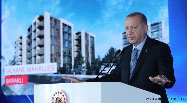 """Cumhurbaşkanı Erdoğan: """"1 milyon depreme dayanıklı sosyal konutun üretimini gerçekleştirdik"""""""