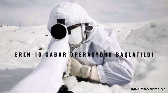 Şırnak-Siirt İllerinde Eren-10 Gabar Operasyonu Başlatıldı