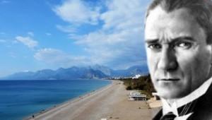 Atatürk'ün Antalya'ya gelişinin 91'inci yıldönümünün kıvancını yaşıyoruz