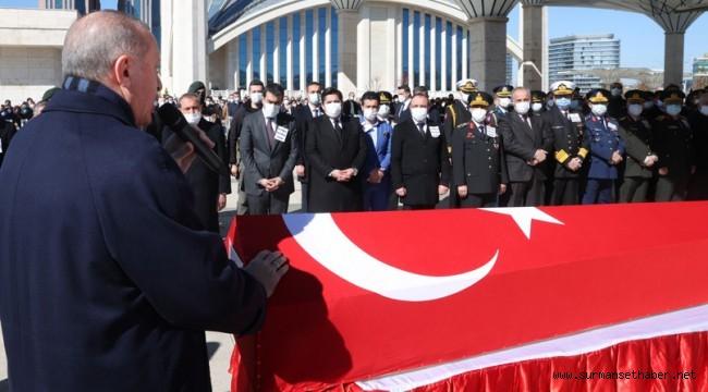 Cumhurbaşkanı Erdoğan, Helikopter kazasında şehit düşen askerlerimizin cenaze törenine katıldı