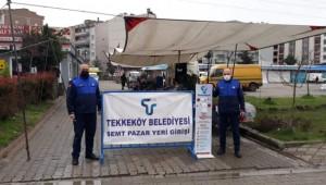 Tekkeköy Pazarlarında Koronavirüs Önlemleri!