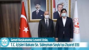 BEM BİR SEN Genel Başkan Levent Uslu'dan Bakan SOYLU'ya Ziyaret !