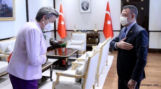 Cumhurbaşkanı Yardımcısı Oktay, AB İçişleri Komiseri Johansson'ı kabul etti