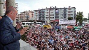 Cumhurbaşkanı Erdoğan: Arhavi'de hasar tespit çalışmaları sürüyor, hak sahiplerine ödemeler en kısa zamanda yapılacak