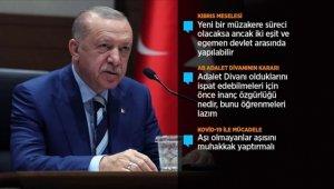 Cumhurbaşkanı Erdoğan: Kıbrıs Türk'ü Ada'da yarım asırdan fazla bir süredir eşitlik ve adalet mücadelesi veriyor