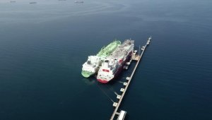 Türkiye'nin ilk FSRU'su Ertuğrul Gazi'ye ilk LNG nakli başarıyla tamamlandı