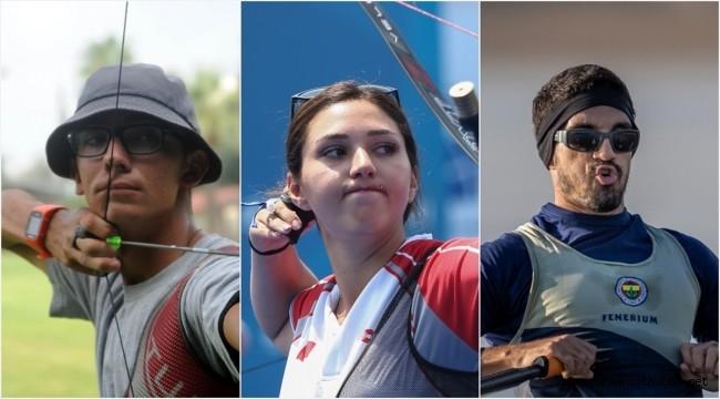 Üç milli sporcu Tokyo 2020'de sahne alıyor
