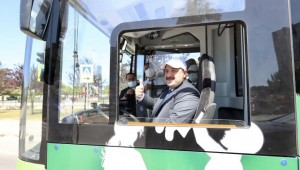 Yerli çevre dostu elektrikli otobüs Samsun'a hizmet edecek