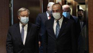 Dışişleri Bakanı Çavuşoğlu, BM Genel Sekreteri Guterres ile görüştü